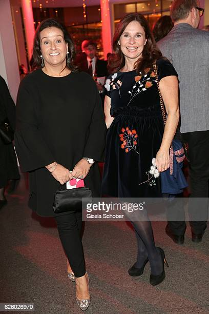 Karin Holler and Judith Epstein during the PIN Party Let's party 4 art' at Pinakothek der Moderne on November 26 2016 in Munich Germany