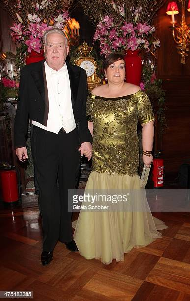 Karin Holler and Peter Diehl attend the traditional Vienna Opera Ball at Vienna State Opera on February 27 2014 in Vienna Austria