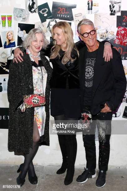 Karin Joop-Metz, Jette Joop and Wolfgang Joop during the 20th anniversary celebration of JETTE on November 17, 2017 in Berlin, Germany.