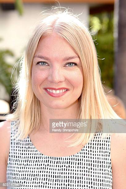 Karin Kallman attends the Villoid garden tea party hosted by Alexa Chung at the Hollywood Roosevelt Hotel on April 21 2016 in Hollywood California