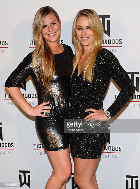 Karin Kildow and her sister ski racer Lindsey Vonn attend Tiger Jam 2014 at the Mandalay Bay Events Center on May 17 2014 in Las Vegas Nevada