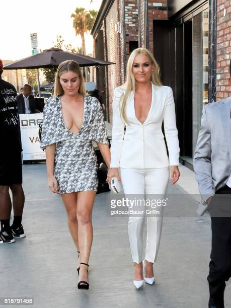 Karin Kildow and Lindsey Vonn are seen on July 18 2017 in Los Angeles California