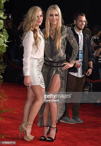 Karin Kildow and Lindsey Vonn arrives at the Jurassic World World Premiere at Dolby Theatre on June 9 2015 in Hollywood California