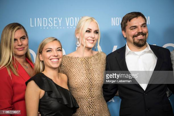 Karin Kildow Laura Kildow Lindsey Vonn and Dylan Kildow arrive at the premiere of HBO's Lindsey Vonn The Final Season at Writers Guild Theater on...