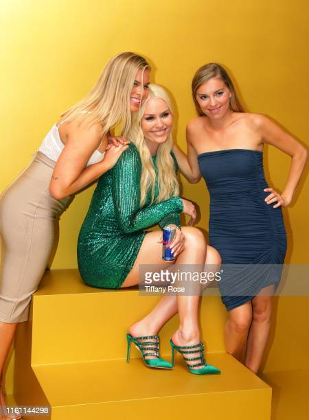 Karin Kildow Lindsey Vonn and Laura Kildow attend Red Bull's Celebration of Lindsey Vonn at Liaison Restaurant on July 09 2019 in Los Angeles...