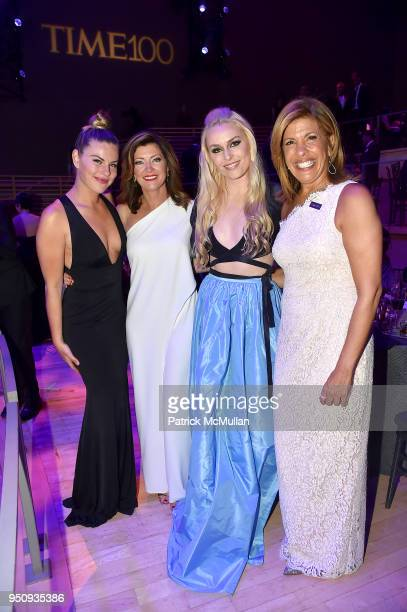 Karin Kildow Norah O'Donnell Lindsey Vonn and Hoda Kotb attend the 2018 TIME 100 Gala at Jazz at Lincoln Center on April 24 2018 in New York City