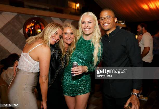 Karin Kildow Vannessa Cella Lindsey Vonn and guest attend Red Bull's Celebration of Lindsey Vonn at Liaison Restaurant on July 09 2019 in Los Angeles...