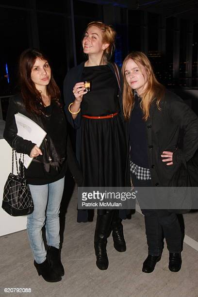 Karin Nelson Melissa Bent and Hanna Liden attend SMART Celebrates Sideways A New Book Featuring Artworks by 100 Contributors at 7 World Trade Center...
