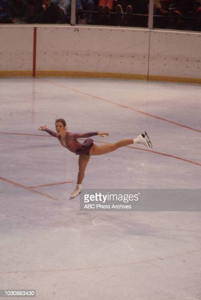Karin Riediger competing in the Women's figure skating event at the 1980 Winter Olympics / XIII Olympic Winter Games Olympic Center