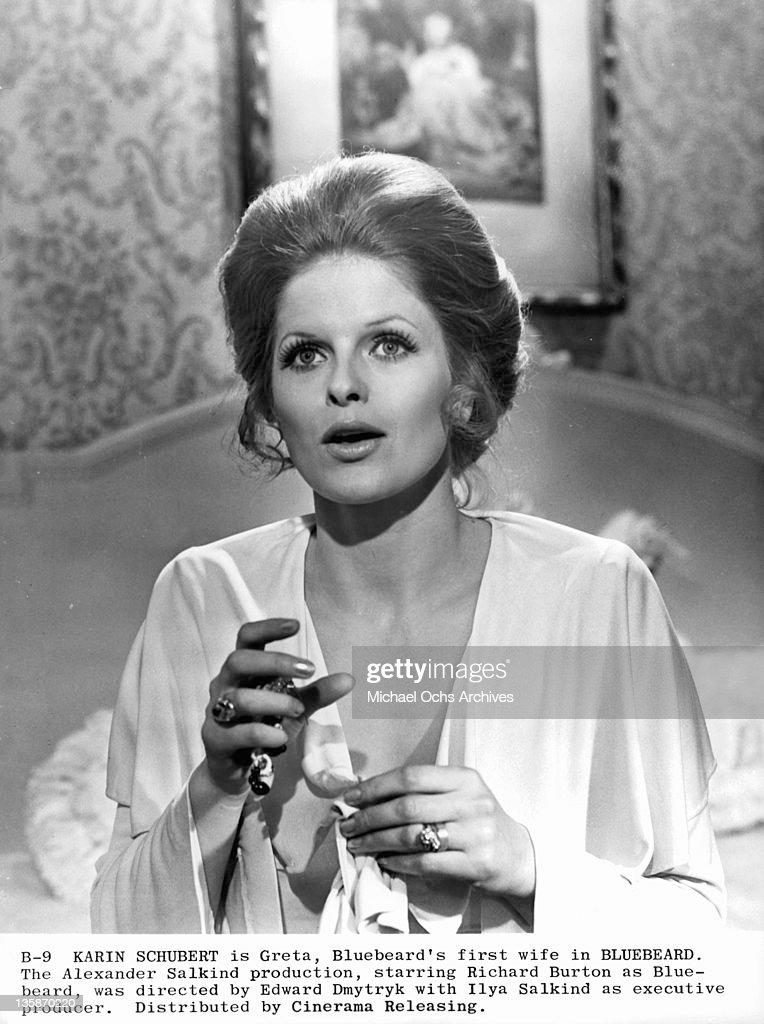 Karin Schubert in a scene from the film Bluebeard, 1972