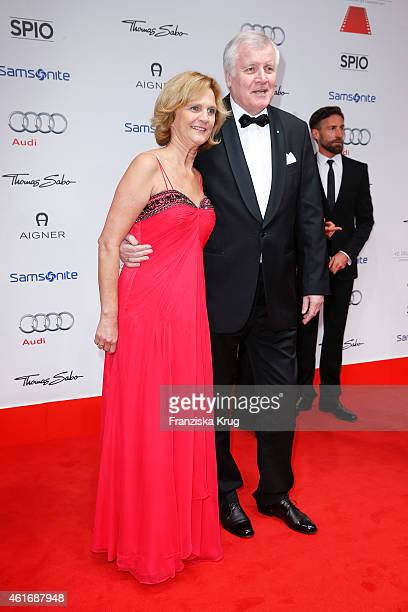 Karin Seehofer and Horst Seehofer attend the German Film Ball 2015 on January 17 2015 in Munich Germany