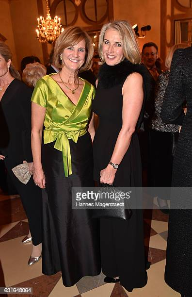 Karin Seehofer and Martina Krueger during the new year reception of the Bavarian state government at Residenz on January 13, 2017 in Munich, Germany.