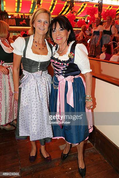 Karin Seehofer and Regine Sixt attend the Regines Sixt Damen Wiesn during the Oktoberfest 2015 on September 21 2015 in Munich Germany