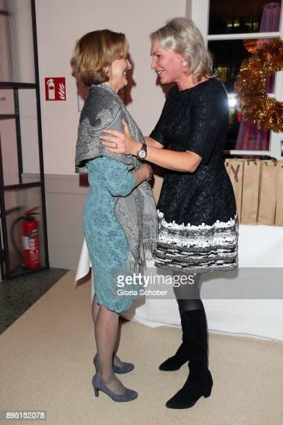 Karin Seehofer and Saskia Greipl during the annual Christmas Roast Kid Dinner on December 18 2017 in Munich Germany