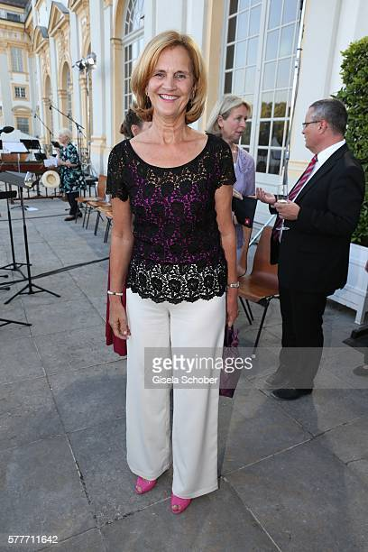 Karin Seehofer during the Summer Reception of the Bavarian State Parliament at Schleissheim Palace on July 19 2016 in Munich Germany