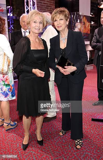 Karin Stoiber and Carolin Reiber attend the 'Gala Abend mit Arthur Cohn' as part of Filmfest Muenchen 2014 at Gasteig and Dinner at Hotel Bayerischer...