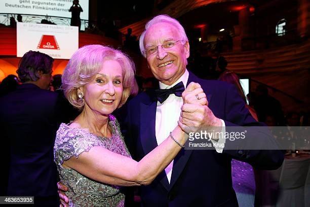 Karin Stoiber and Edmund Stoiber attend the German Film Ball 2014 on January 18 2014 in Munich Germany