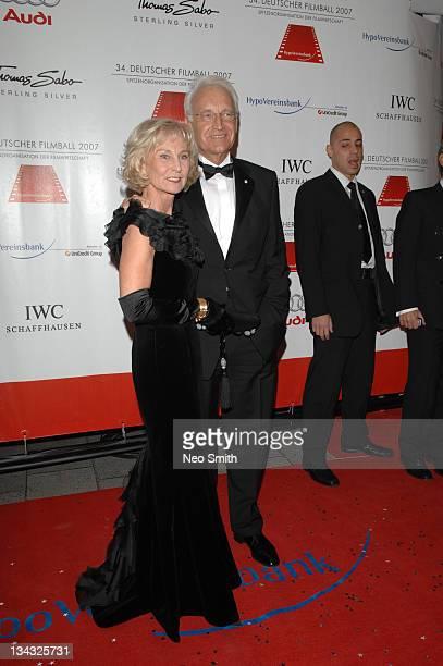 Karin Stoiber and Edmund Stoiber during Deutscher Filmball 2007 Red Carpet at Hotel Bayerischer Hof in Munich Bayern Germany