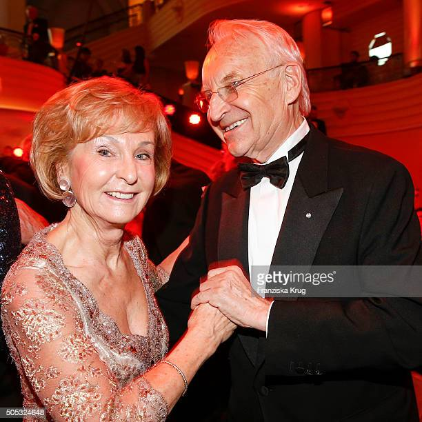 Karin Stoiber and Edmund Stoiber during the German Film Ball 2016 at Hotel Bayerischer Hof on January 16 2016 in Munich Germany