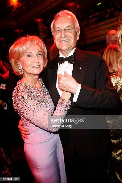 Karin Stoiber and her husband Edmund Stoiber attend the German Film Ball 2015 on January 17 2015 in Munich Germany