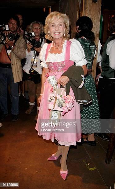 Karin Stoiber attends the Oktoberfest 2009 at Kaefer Schaenke at the Theresienwiese on September 24 2009 in Munich Germany Oktoberfest is the world's...
