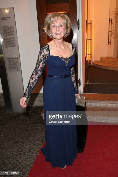 Karin Stoiber during the 80th birthday party of Roland Berger at Cuvillies Theatre on November 25 2017 in Munich Germany