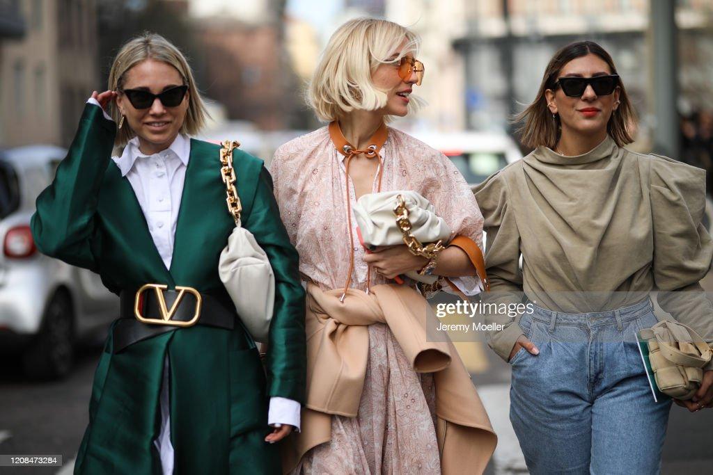 Street Style: February 21st - Milan Fashion Week Fall/Winter 2020-2021 : News Photo