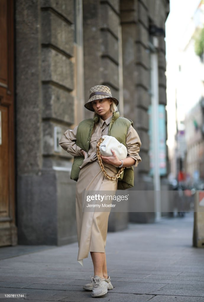 Karin Teigl Wearing A Gucci Bucket Hat Adidas Ozweego A Vest And News Photo Getty Images