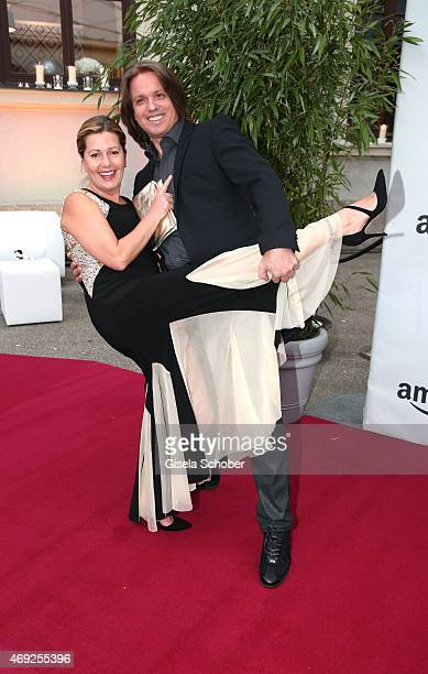 Karin Thaler and her husband Milos Malesevic during the German premiere for Amazon's original drama series 'Transparent' at Kuenstlerhaus am...