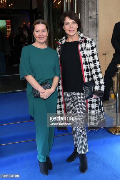 Karin Thaler and Janina Hartwig during the NdF after work press cocktail at Parkcafe on March 14 2018 in Munich Germany