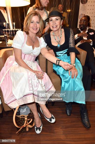 Karin Thaler and Petra Drechsler during Trachtentrends 2018 at Sheraton on April 12 2018 in Munich Germany