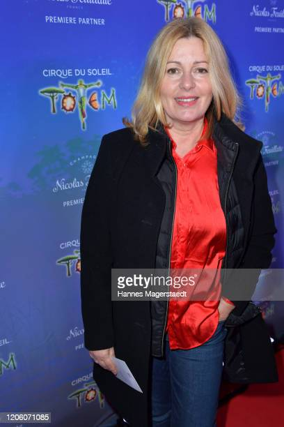 Karin Thaler attends the premiere of Totem by Cirque du Soleil at Theresienwiese on February 13 2020 in Munich Germany