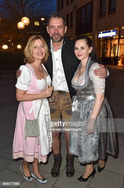 Karin Thaler Manfred May and Dagmar Habermeier during Trachtentrends 2018 at Sheraton on April 12 2018 in Munich Germany