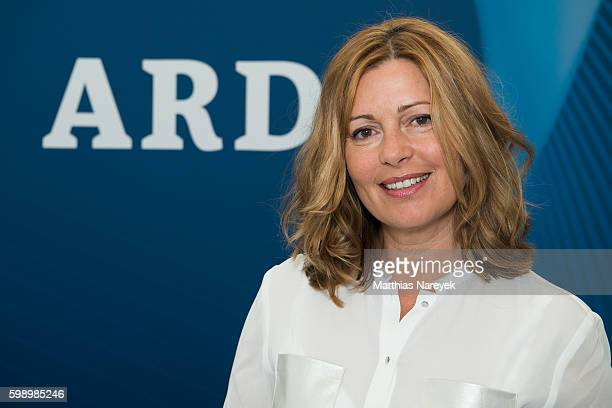 Karin Thaler visits the ARD Stand At 2016 IFA Tech Fair on September 2 2016 in Berlin Germany