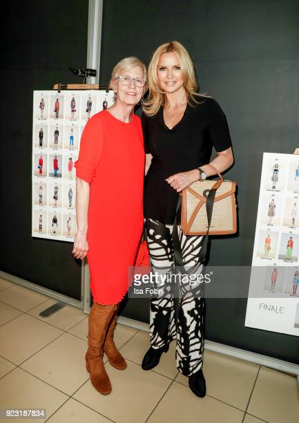 Karin Veit and Veronica Ferres attend the KaDeWe X Marc Cain Fashion Show Spring/Summer Collection 2018 at KaDeWe on February 22 2018 in Berlin...