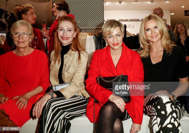 Karin Veit Andrea Sawatzki Gesine Cukrowski and Veronica Ferres attend the KaDeWe X Marc Cain Fashion Show Spring/Summer Collection 2018 at KaDeWe on...