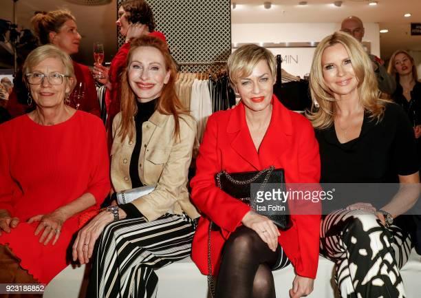 Karin Veit, Andrea Sawatzki, Gesine Cukrowski and Veronica Ferres attend the KaDeWe X Marc Cain Fashion Show Spring/Summer Collection 2018 at KaDeWe...