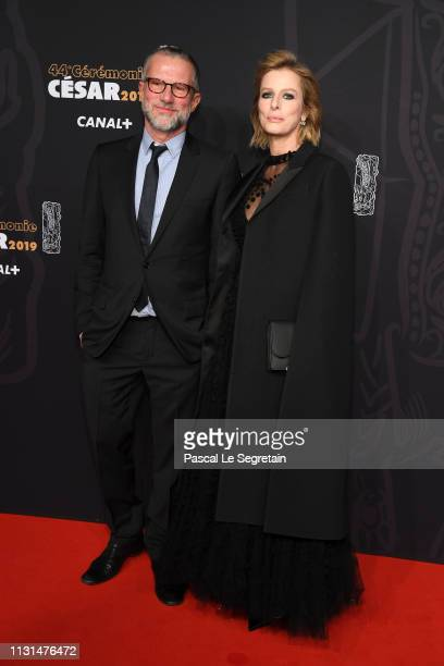 Karin Viard and a guest arrive at the Cesar Film Awards 2019 at Salle Pleyel on February 22 2019 in Paris France