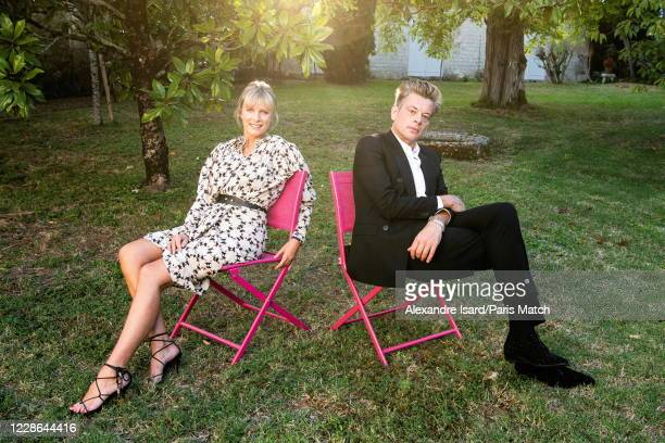 Karin Viard and Benjamin Biolay are photographed for Paris Match at the 13th Francophone Film Festival of Angouleme on August 30 in Angouleme, France.