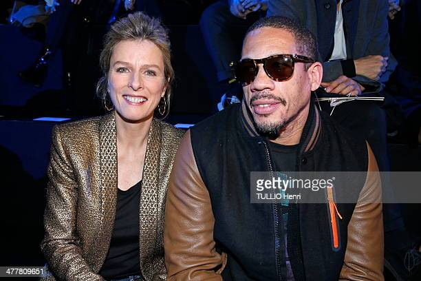 Karin Viard and Joey Starr attend the Etam Launch of Natalia Vodianova for Etam Lingerie Collection on February 25 2014 in Paris France