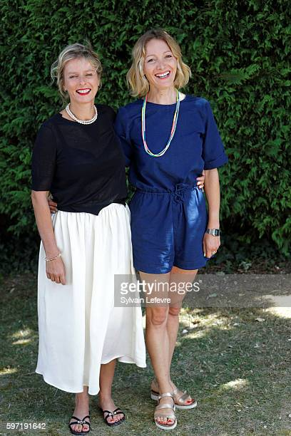 Karin Viard and Nadege Loiseau attend 9th Angouleme French-Speaking Film Festival on August 28, 2016 in Angouleme, France.