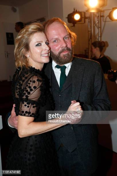 Karin Viard and Philippe Katerine attend the Cesar Film Awards 2019 at Salle Pleyel on February 22, 2019 in Paris, France.