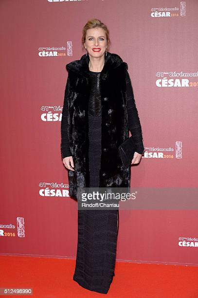 Karin Viard arrives at The Cesar Film Awards 2016 at Theatre du Chatelet on February 26 2016 in Paris France