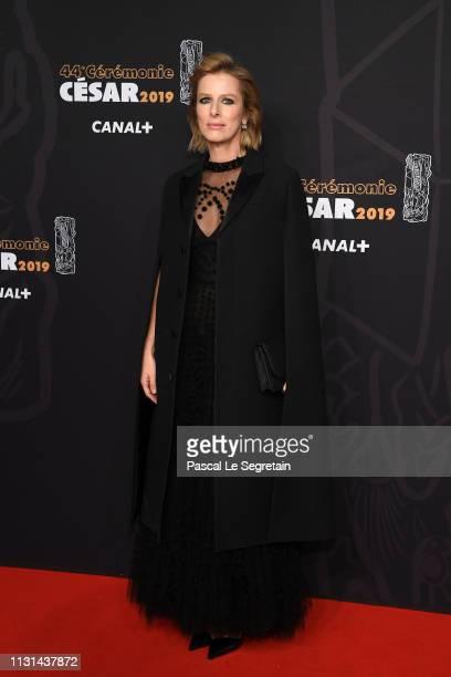 Karin Viard arrives at the Cesar Film Awards 2019 at Salle Pleyel on February 22 2019 in Paris France