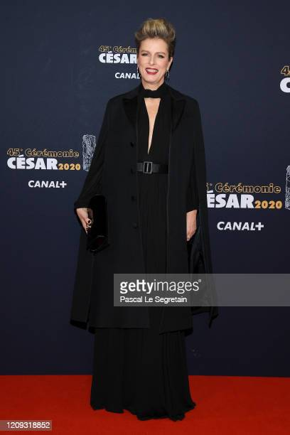Karin Viard arrives at the Cesar Film Awards 2020 Ceremony At Salle Pleyel In Paris on February 28, 2020 in Paris, France.