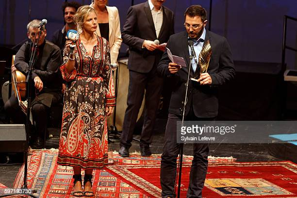 Karin Viard attends 9th Angouleme FrenchSpeaking Film Festival Closing Ceremony on August 28 2016 in Angouleme France
