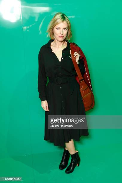 Karin Viard attends the Lacoste show as part of the Paris Fashion Week Womenswear Fall/Winter 2019/2020 on March 05 2019 in Paris France