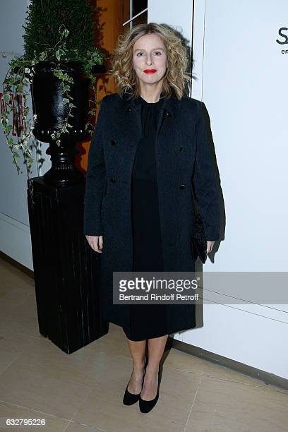 Karin Viard attends the Sidaction Gala Dinner 2017 Haute Couture Spring Summer 2017 show as part of Paris Fashion Week on January 26 2017 in Paris...