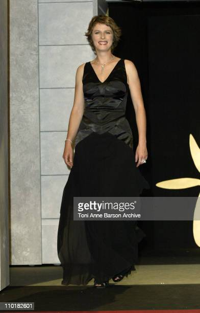 Karin Viard during 2003 Cannes Film Festival - Closing Ceremony - Show at Palais des Festivals in Cannes, France.