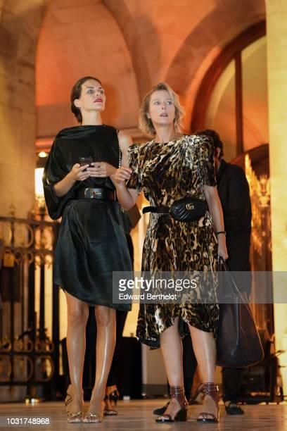 Karin Viard is seen outside the Longchamp 70th Anniversary Celebration at Opera Garnier on September 11 2018 in Paris France